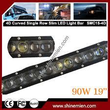 curved 90w slim 4d led light bar slim 90w offroad 19inch ip67 led