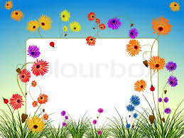 Empty Billboard With Flowers And Grass Abstract Art Illustration