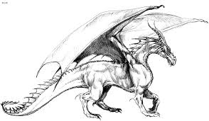 Coloring Pages Dragons Kids Scary Dragon