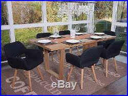chaise fauteuil salle manger 6x chaise de salle à manger altena ii fauteuil design rétro tissu