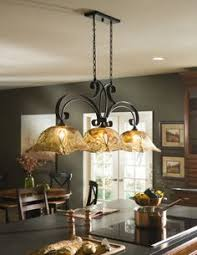 country bronze glass kitchen island light