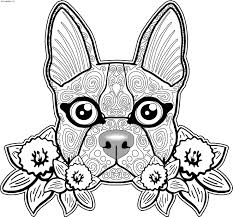 Sugar Skull Dog Coloring Pages 325