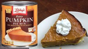 Pumpkin Pie Libbys Recipe by How Pumpkin Pie Libby U0027s Pie Mix Can Youtube