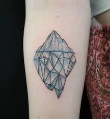 Geometric Glacier Tattoo
