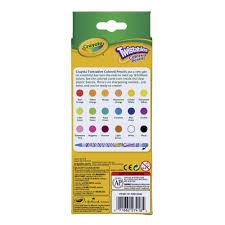 Crayola Bathtub Crayons 18 Vibrant Colors by Crayola Twistables Colored Pencils Walmart Com