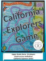 California Explorers Board Game