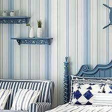 lybjs 3d blau weiß gestreiften tapeten schlafzimmer