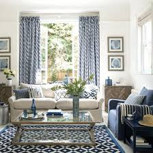 blue living room bring home the relaxed mood of the med with a