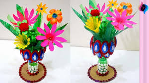 Flower Vase Using Waste Material Inspirational How To Make With Plastic Bottle Step By