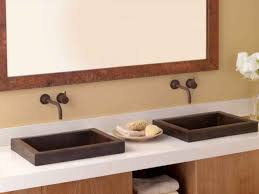 Trough Sink With Two Faucets by Sink U0026 Faucet A More Modern Bathroom Trough Sink Two Faucets