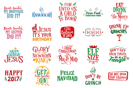 The Grinch Christmas Tree Quotes by Christmas Bundle 129 Christmas Quotes In Svg Dxf Cdr Eps Ai