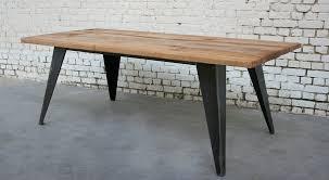 table c t007 giani desmet meubles indus bois métal et cuir