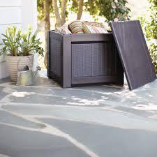 rubbermaid deck boxes for patio storage garden club