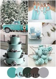 Turquoise Aqua And Forest Green Rustic Winter Wedding Colour Scheme