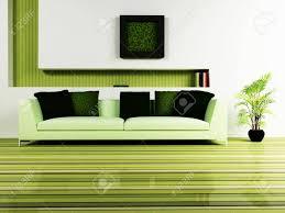 moderne innenarchitektur aus einem wohnzimmer mit einem schönen sofa einer pflanze und einem dekor auf der wand