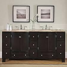 72 Inch Double Sink Bathroom Vanity by Amazon Com 72 Inch Espresso Double Basin Sink Bathroom Vanity Set