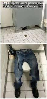 guy stuck in toilet bathroom college prank funny toilet paper