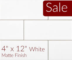 white matte subway tile 4 x 12 metro collection