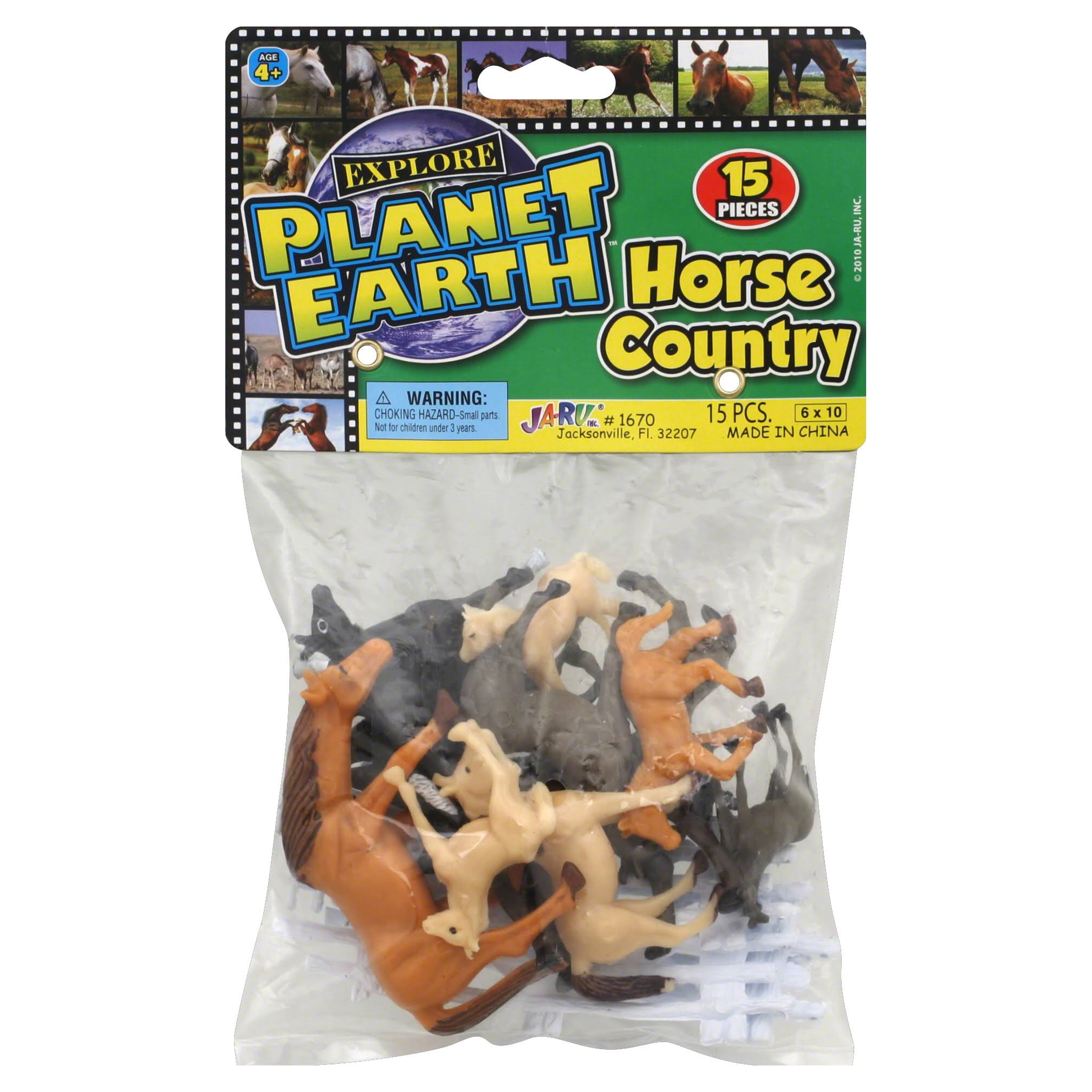Ja-Ru Explore Planet Earth Horse Country Toy Bag - 15pcs