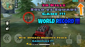 100 Free Fire Truck Games 28 KILLS NEW MONSTER TRUCK GAMEPLAY SOLO SQUADS