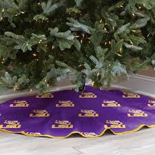 LSU Tigers 52 Inch Christmas Tree Skirt