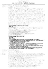 Related Job Titles Marketing Analyst Resume Sample