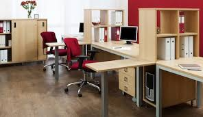 Office Space With Hardwood Flooring