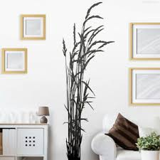 details zu wandtattoo wandsticker wandaufkleber flur badezimmer gras gräser w411