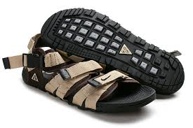 Nike Air Deschutz Acg Roman Beach Sandals For Men In Beige Brown