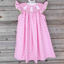 smocked bunny bum dress pink polka dot smocked auctions