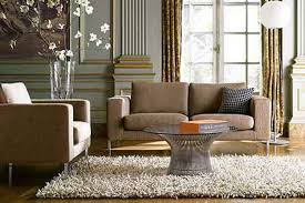 Brown Couch Decorating Ideas by Square Cream Leather Ottoman Coffee Table With U Shaped Brown