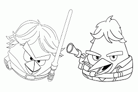 Angry Birds Coloring Pages Overview With All The Sheets Of These Star Wars