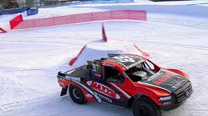 Red Hot Red Bull 900HP Truck Racing Action On The Icy Slopes Of ...