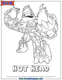 Skylanders Giants Fire Hot Head Coloring Page