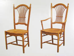 Sheaf Back Side And Arm Chairs - Wood Dining Chairs - Solid ...