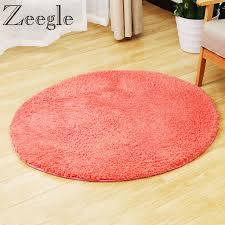 Zeegle CamoFleece Round Carpet Mats Soft Fluffy For Living Room Shaggy Kids Bedroom Computer Chair