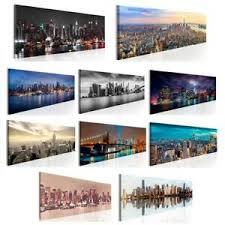details zu vlies leinwand bilder new york skyline stadt wandbilder wohnzimmer groß auswahl