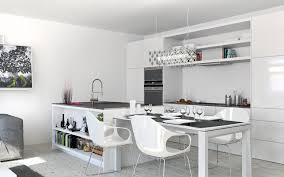 white kitchen cabinets white granite tops integrated light blue