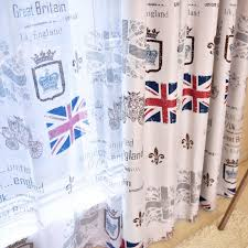 Sheer Voile Curtains Uk by Kids Curtains Cartoon Printed Sheer Voile Curtains Uk Flag Photo