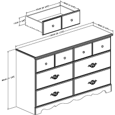 South Shore 6 Drawer Dresser Black by South Shore Prairie 6 Drawer Double Dresser Pine Walmart Com