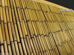 natural plain bamboo beaded door window wall divider bead curtain