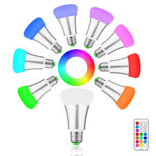 brightness 10w rgb e27 led bulb light stage l 12 colors with