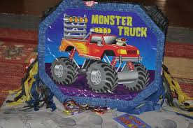 Bobby's Summer Monster Truck Birthday Party | Www.BlogWithMom.com Dump Truck Pinata Party Game 3d Centerpiece Decoration And Photo Garbage Truck Pinata Etsy Hoist Also Trucks For Sale In Texas And 5 Ton Or Brokers Custom Monster Piata Dont See What Youre Looking For On Handmade Semi Party Casa Pinatas Store Fire Vietnam First Birthday Mami Vida Engine Supplies Games Toy Pinatascom Cstruction Who Wants 2