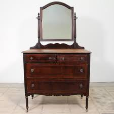 John Widdicomb Dresser Mirror by This Antique Vanity Dresser Is Featured In A Solid Wood With A