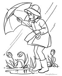 A Girl With An Umbrella In The Rain