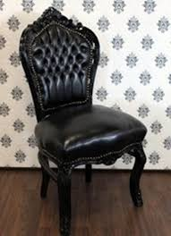 casa padrino barock esszimmer stuhl schwarz lederoptik schwarz antik stil möbel