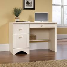 sauder harbor view computer desk antiqued white finish walmart com