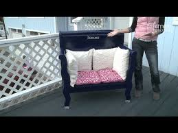 build a bench out of an old headboard make it fabulous