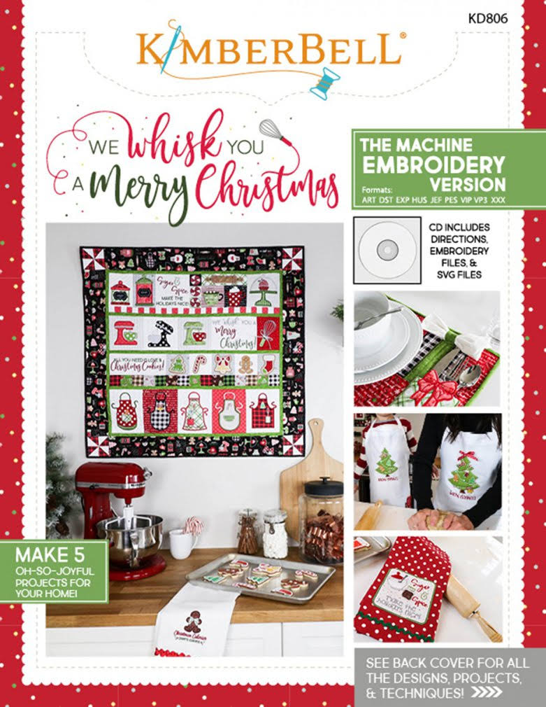 Kimberbell We Whisk You A Merry Christmas Machine Embroidery CD Versi