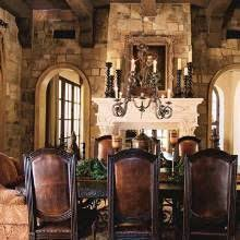 Rustic And Yet Sophisticated Spanish Colonial Retreat The Living Rooms Two Way Fireplace Boasts